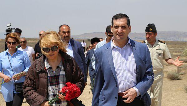Посол Турции в Азербайджане Эркан Озорал на острове Бёюк-Зиря - Sputnik Азербайджан