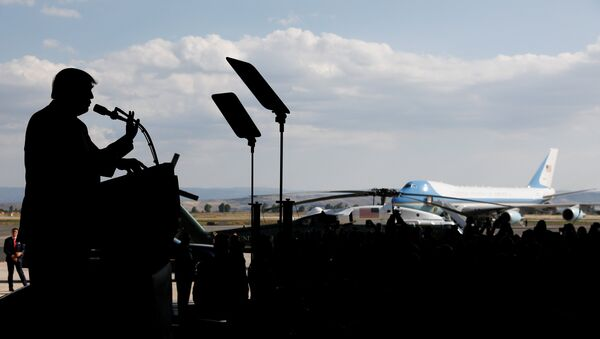 Выступление президента США Дональда Трампа - Sputnik Азербайджан