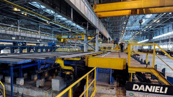 Предприятие металлургического комплекса Уральской горно-металлургической компании - Sputnik Азербайджан
