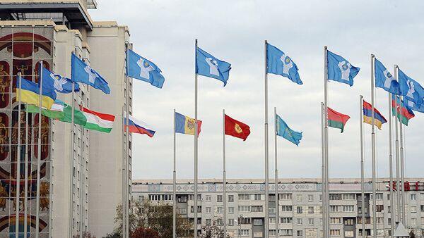 Флаги СНГ, фото из архива - Sputnik Азербайджан