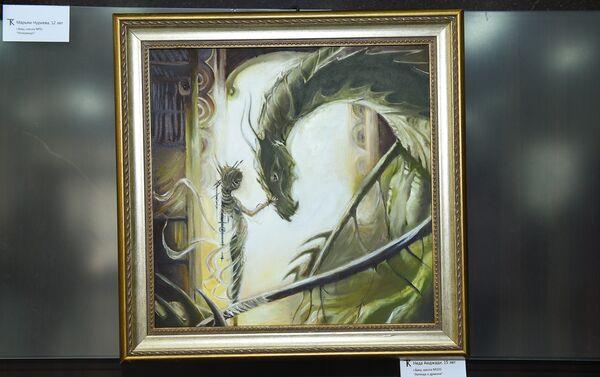 Картина Амджади Неда Легенда о драконе - Sputnik Азербайджан