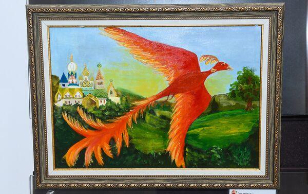 Картина Амджади Неда Иван царевич и серый волк - Sputnik Азербайджан