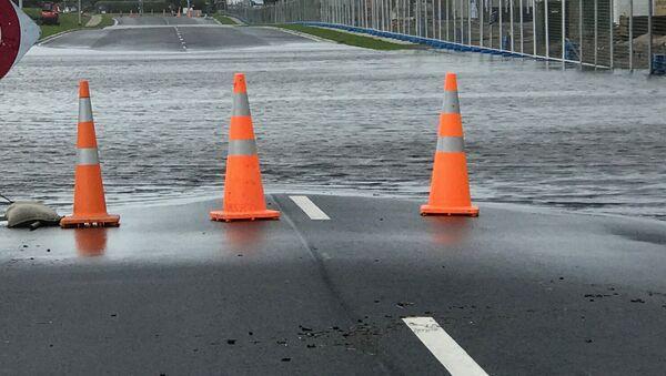 Затопленная дорога, фото из архива - Sputnik Азербайджан