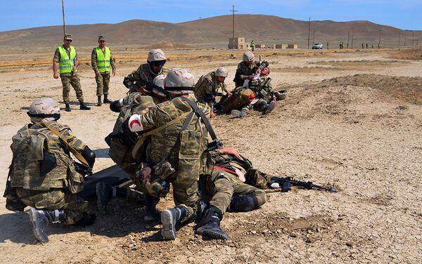 Silahlı Qüvvələrin motoatıcı taborunun NATO qiymətləndirməsi üzrə təlimi başa çatıb - Sputnik Azərbaycan