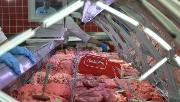 Мясной отдел гипермаркета, фото из архива - Sputnik Азербайджан