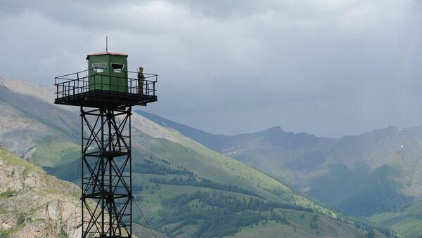Пограничная вышка наблюдения, фото из архива - Sputnik Азербайджан