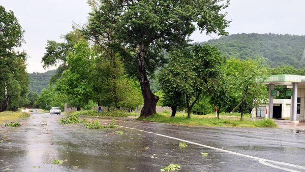 Последствия ливней в Габалинском районе, фото из архива - Sputnik Азербайджан