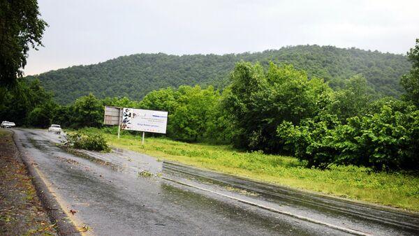 Дождь в Габале, фото из архива - Sputnik Азербайджан