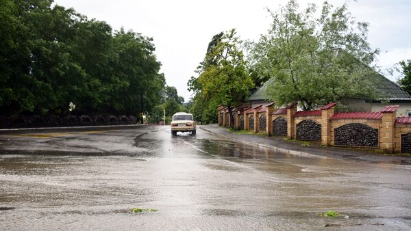 Дорога в Габалинском районе после дождя, архивное фото - Sputnik Азербайджан