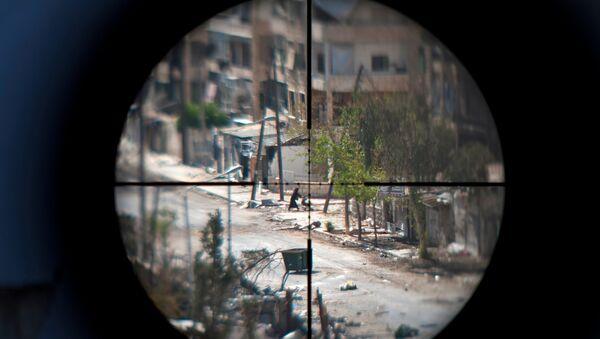 Прицел снайперской винтовки, фото из архива - Sputnik Азербайджан