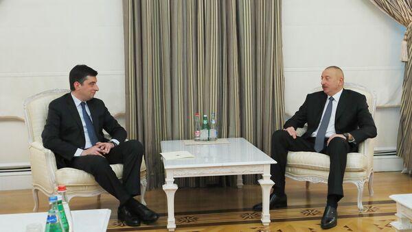 Ильхам Алиев принял делегацию во главе с министром экономики и устойчивого развития Грузии - Sputnik Азербайджан
