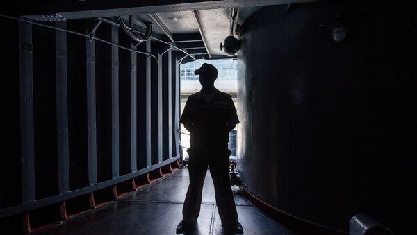 Сотрудник охранной фирмы, фото из архива - Sputnik Азербайджан