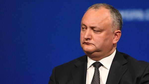 Президент Молдавии Игорь Додон - Sputnik Азербайджан