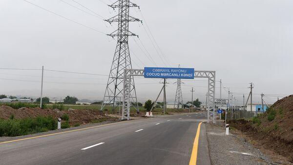Въезд в село Джоджуг Мерджанлы Джабраильского района - Sputnik Азербайджан