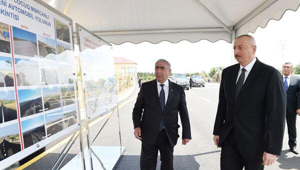 Президент Ильхам Алиев в селе Джоджуг Мерджанлы Джабраильского района - Sputnik Азербайджан