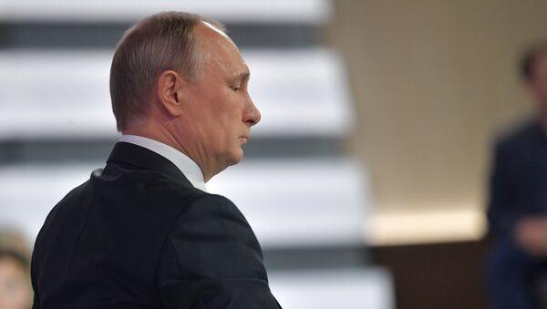 Прямая линия с президентом РФ В. Путиным - Sputnik Азербайджан