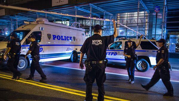Полицейские в Нью-Йорке, фото из архива - Sputnik Азербайджан