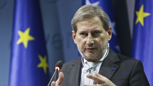 Комиссар ЕС по вопросам расширения и политики соседства Йоханнес Хан, фото из архива - Sputnik Азербайджан