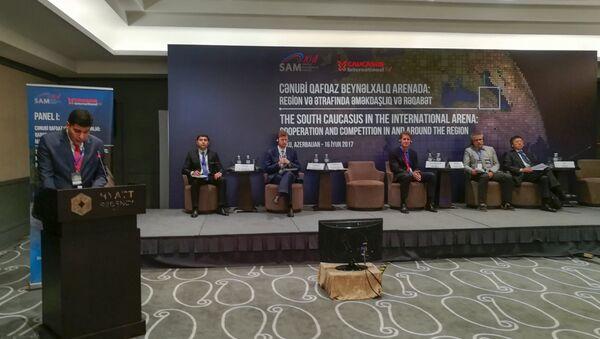 Международная конференция, посвященная пятилетию журнала Caucasus International - Sputnik Азербайджан