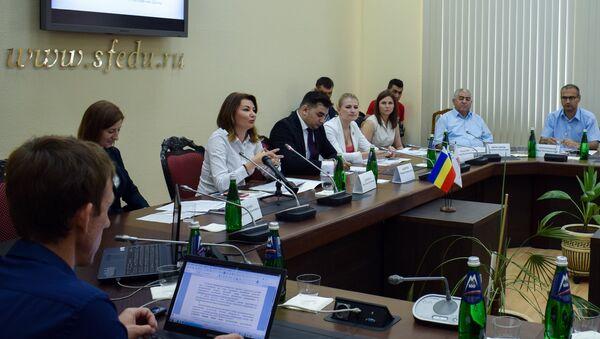 Круглый стол Азербайджан как точка сопряжения евразийских проектов в Ростове-на-Дону - Sputnik Азербайджан