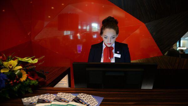 Сотрудница отеля, фото из архива - Sputnik Азербайджан