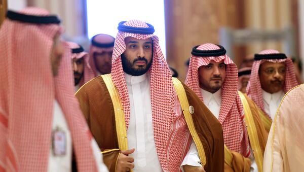 Наследный принц Саудовской Аравии Мухаммед бен Салман (второй слева), фото из архива - Sputnik Azərbaycan