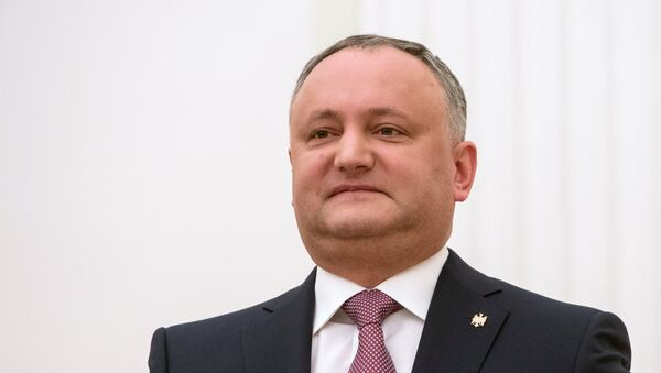 Президент Республики Молдова Игорь Додон, фото из архива - Sputnik Азербайджан