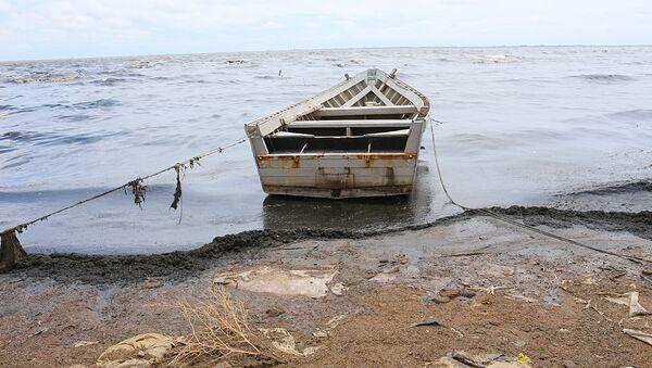 Дети не могут поиграть на берегу моря из-за грязи и зловония - Sputnik Азербайджан