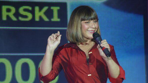 Актриса Наталья Варлей во время выступления на церемонии награждения победителей фестиваля спортивного кино Красногорский в Крокус-Экспо - Sputnik Azərbaycan