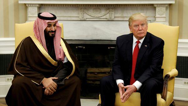 Встреча президента США Дональда Трампа с принцем Мухаммедом бен Сальманом в Белом доме, Вашингтон, 14 марта 2017 года - Sputnik Азербайджан