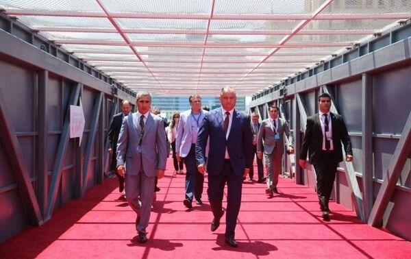 Президент Молдовы Игорь Додон и президент AAF Анар Алекберов - Sputnik Азербайджан