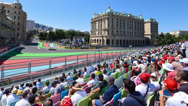 Квалификационный этап Гран-при Азербайджана Формулы-1 - Sputnik Азербайджан