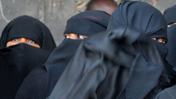 Женщины в парандже, фото из архива - Sputnik Азербайджан