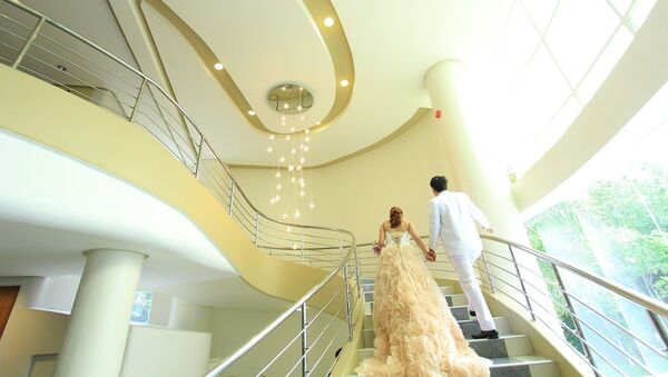 Жених и невеста, фото из архива - Sputnik Азербайджан
