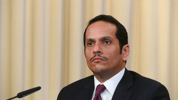 Министр иностранных дел Катара Мухаммед Аль Тани - Sputnik Азербайджан