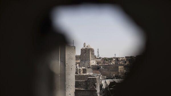 Разрушенная историческая мечеть Аль-Нури - Sputnik Азербайджан