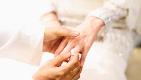 Мусульманская свадьба, фото из архива - Sputnik Azərbaycan