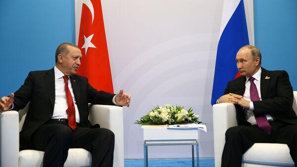 Hamburqda Ərdoğan-Putin görüşü - Sputnik Azərbaycan