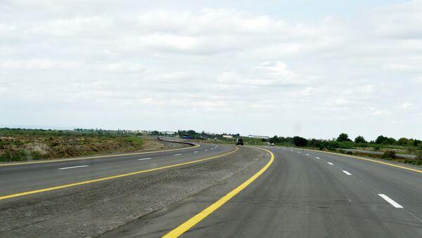 Автомобильная дорога Алят-Астара- государственная граница Исламской Республики Иран, фото из архива - Sputnik Азербайджан