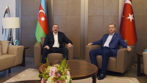 Встреча президентов Азербайджана и Турции Ильхама Алиева и Реджепа Тайипа Эрдогана, Стамбул, 9 июля 2017 года - Sputnik Азербайджан