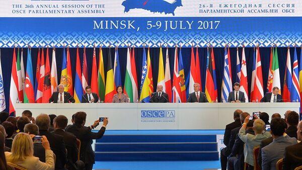 Сессия ПА ОБСЕ в Минске - Sputnik Азербайджан