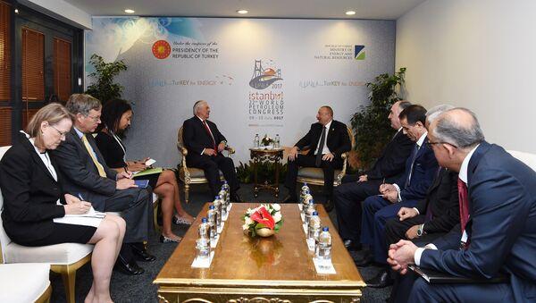 Встреча госсекретаря США Рекса Тиллерсона с президентом Азербайджана Ильхамом Алиевым - Sputnik Азербайджан