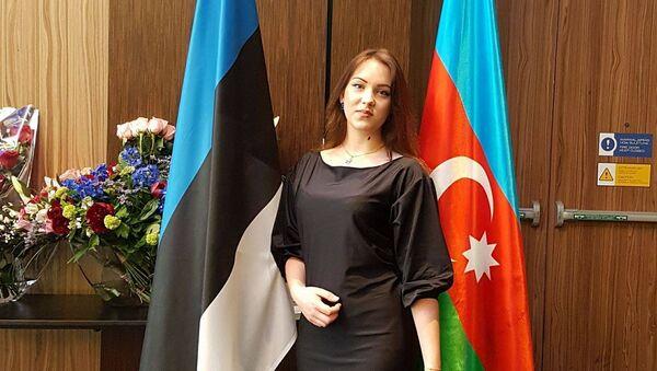 Эстонская школьница Ирина Ковзанович - Sputnik Азербайджан