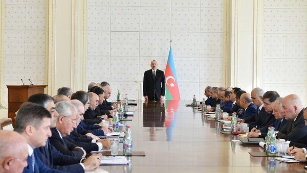 Заседание Кабинета Министров АР, посвященное итогам социально-экономического развития в первой половине 2017 года - Sputnik Азербайджан