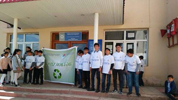 Təmiz məktəb ekoloji aksiyası - Sputnik Azərbaycan