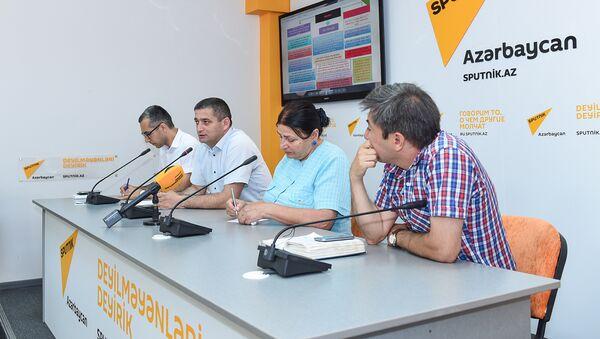 Пресс-конференция, посвященная новым правилам приема на работу учителей и директоров школ - Sputnik Азербайджан