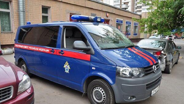 Машина СК у жилого дома на северо-востоке Москвы, фото из архива - Sputnik Азербайджан