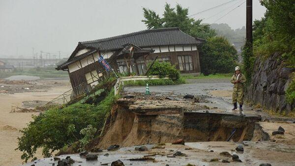 Последствия ливней в Японии, фото из архива - Sputnik Азербайджан