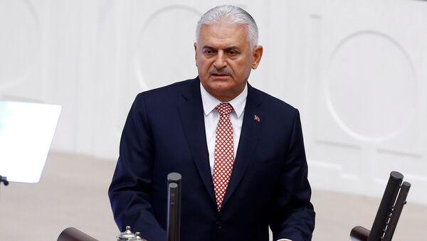 Глава турецкого правительства Бинали Йылдырым, фото из архива - Sputnik Азербайджан