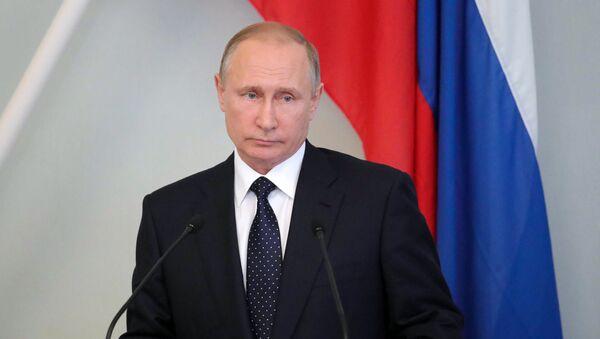 Президент РФ Владимир Путин во время пресс-конференции с президентом Финляндии Саули Ниинистё в городе Савонлинна - Sputnik Азербайджан